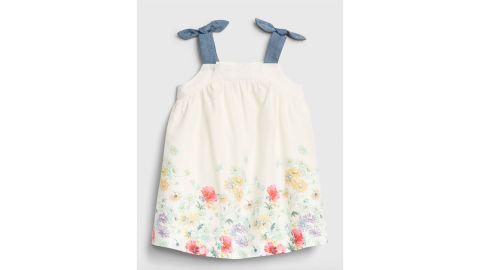 Baby Floral Print Bow Tank Dress