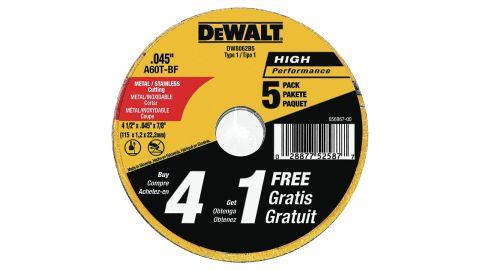 Dewalt Cutting Wheel, 4-1/2-Inch, 5-Pack