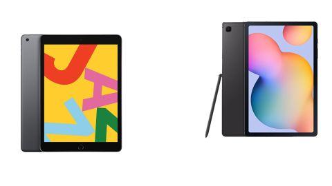 7th-generation iPad and Galaxy Tab S6 Lite