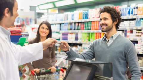 You won't be charged a fee when using your stimulus debit card at any store that accepts Visa cards.