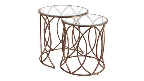 Elana Collection Bronze Iron Round Nesting Tables