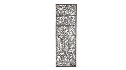 Metal & Rattan Wall Decor