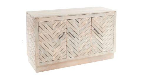 Elwood Whitewash 3-Door Cabinet