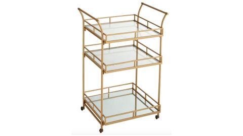 Golden Square Bar Cart