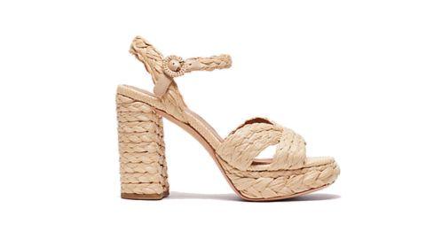 Disco Raffia Platform Sandals