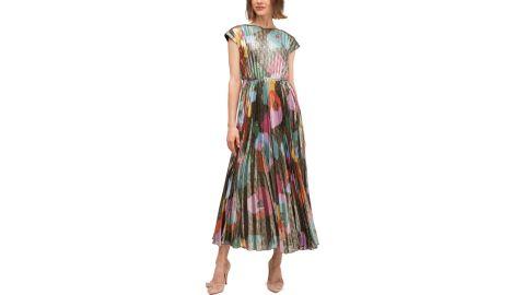 Floral Collage Shimmer Dress