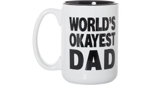 World's Okayest Dad Black Inlay Large 15 oz Double-Sided Mug