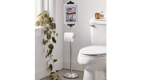Toilet Paper Holder Tablet Stand