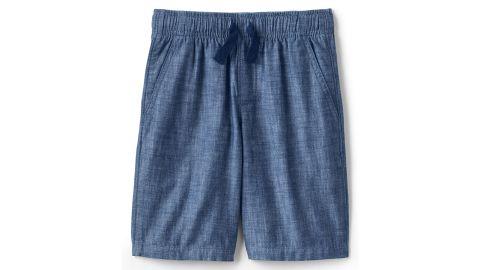 Boys Chambray Pull On Shorts