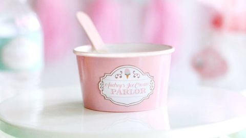 Prettiest Print Shop Ice Cream Parlor Stickers