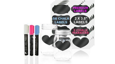 Jpaco Chalkboard Jar Labels