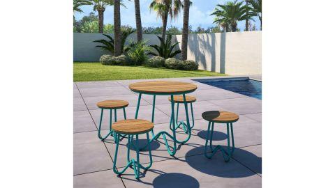 Novogratz Poolside Collection Bobbi Outdoor 5 Piece Bistro Set