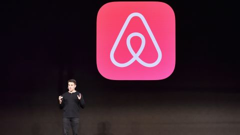 """LOS ANGELES, CA - NOVEMBER 17:  Airbnb CEO Brian Chesky speaks onstage during """"Introducing Trips"""" Reveal at Airbnb Open LA on November 17, 2016 in Los Angeles, California.  (Photo by Mike Windle/Getty Images for Airbnb)"""