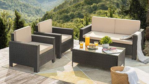Flamaker 4 Pieces Patio Furniture Set Outdoor Furniture Set