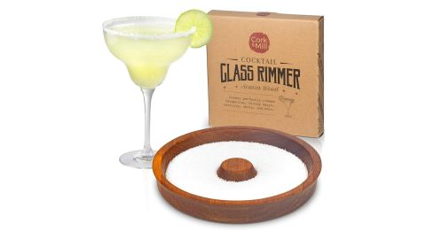 Cork & Mill Acacia Wood Glass Rimmer