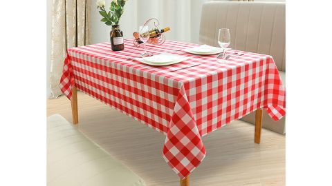 Hiasan Red and White Checkered Tablecloth Rectangle