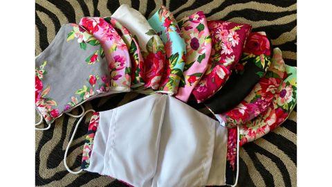 StylishUSACreations Set of 4 Cotton Floral Masks