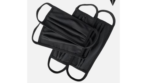 RoaLosAngeles Set of 4 Cotton-Spandex Black Masks in Two Sizes