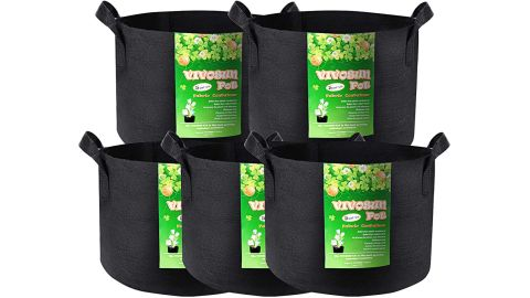 5-Pack 5 Gallon Grow Bags