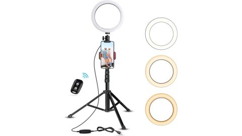 """UBeesize 8"""" Selfie Ring Light with Tripod Stand & Cell Phone Holder"""