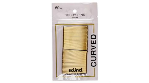 Conair Scunci Curved Bobby Pins, 60-Pack