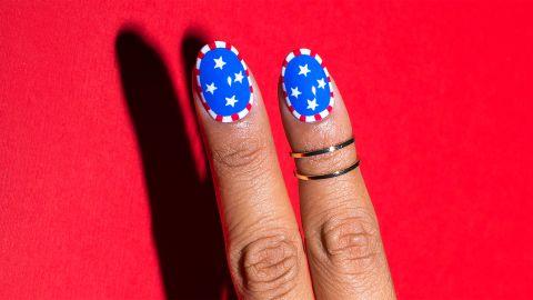 Karirenize Guerrero's Fourth of July manicure