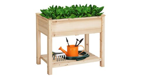 Wooden Elevated Garden Bed Kit with Legs