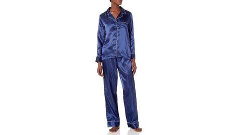Mae Women's Satin Notch Collar Pajama Set