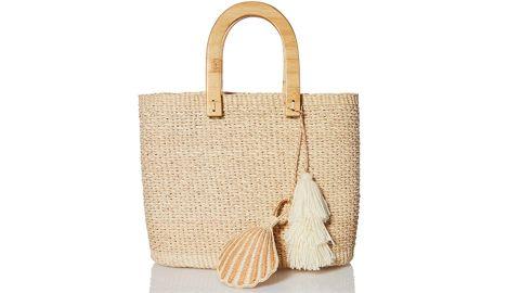 Sensi Studio Women's Canasta Wooden Handle Bag