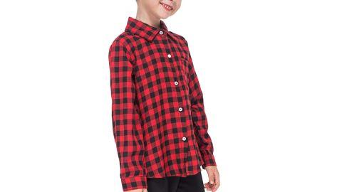 Gaziar Girls Plaid Shirt