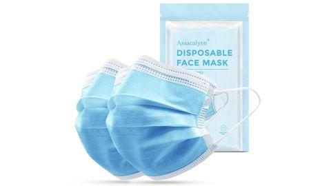 Assacalynn 50pcs Disposable Face Mask