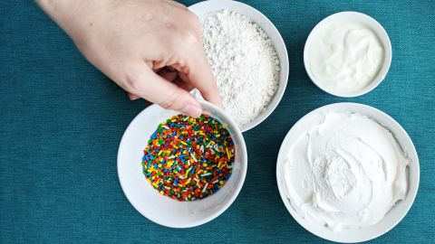 Funfetti dip is make with just three ingredients.
