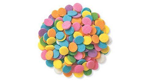 Edible Confetti Sprinkles - 8 Ounces