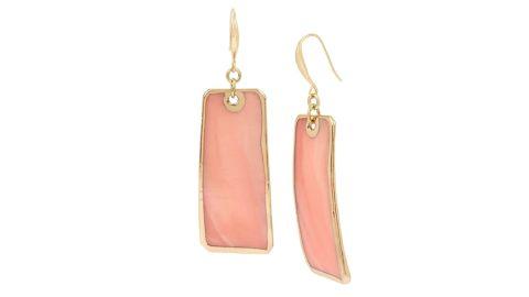 Robert Lee Morris Soho Women's Shell Geometric Drop Earrings, Blush, One Size