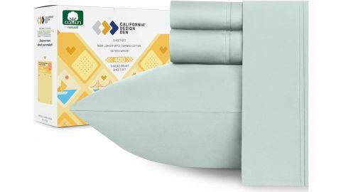 California Design Den 400-Thread-Count 100% Pure Cotton Sheet Set