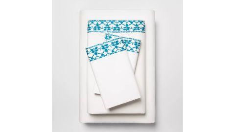 Opalhouse Printed Cotton Percale Sheet Set