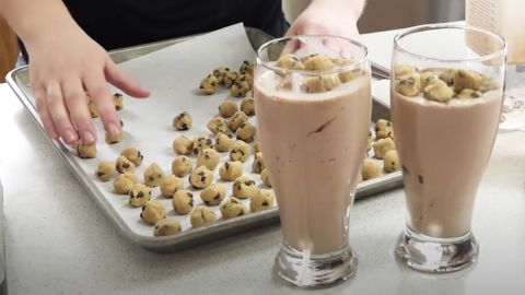 Double Chocolate Fudge Cookie Dough Shake