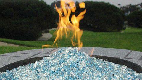 Hiland Fire Pit Fire Glass