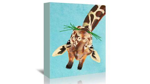 Americanflat Giraffe Upside Down by Coco de Paris Canvas