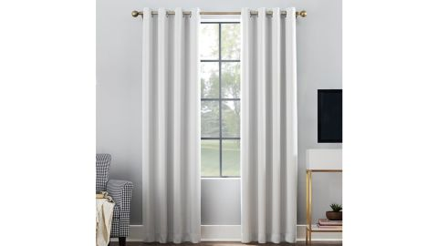 Oslo Home Theater Grade Solid Blackout Thermal Grommet Single Curtain Panel