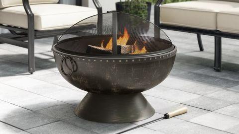 Greyleigh Tuscola Firebowl Steel Wood Burning Fire Pit
