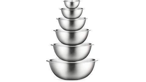 FineDine Premium Stainless Steel Mixing Bowls, Set of 6