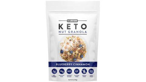 Low Karb Keto Blueberry Nut Granola