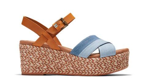 Blue Denim Willow Women's Wedge Sandals