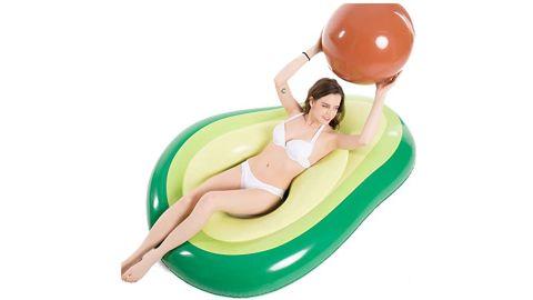 Jasonwell Inflatable Avocado Pool Float Floatie with Ball