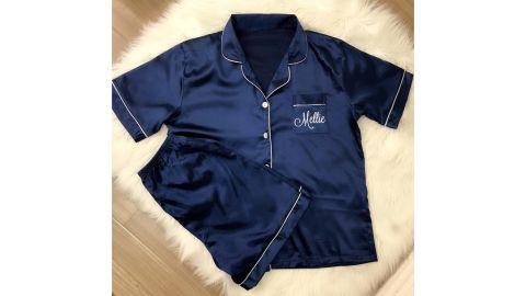 Personalized Set Silk Pajamas
