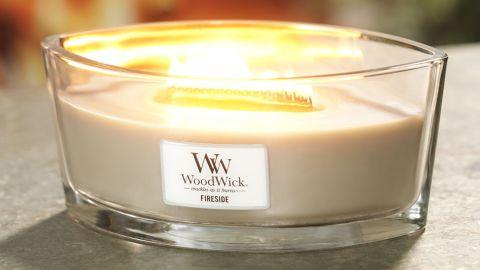 WoodWick Fireside Ellipse Candle
