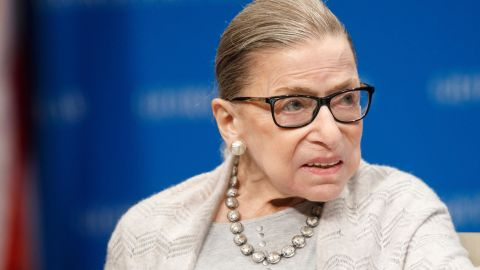 Supreme Court Justice Ruth Bader Ginsburg delivers remarks at the Georgetown Law Center on September 12, 2019, in Washington, DC.