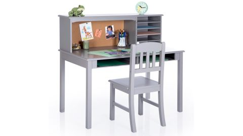 Glaser Kid's Writing Desk and Chair Set with Hutch