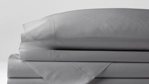 Four-Piece Solid 400-Thread Count Supima Cotton Percale California King Deep Pocket Sheet Set